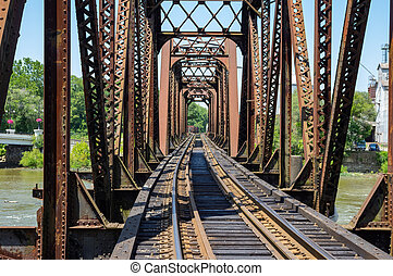Iron Structure Railroad Bridge