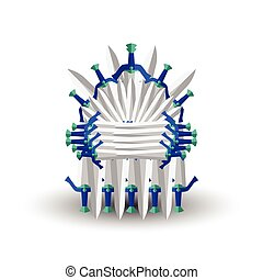 Iron throne for computer games design. Vector illustration...