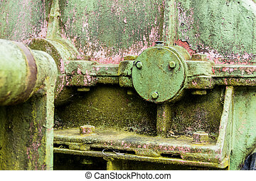 iron with rust marks - iron with traces of rust, symbol of...