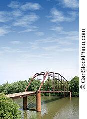 Iron Wooden Bridge - Old Iron And Wooden Bridge With Large ...