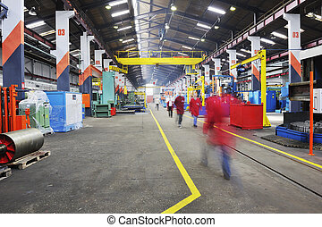 factory indoor - iron works steel and machine parts modern ...