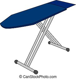 Ironing board, illustration, vector on white background.