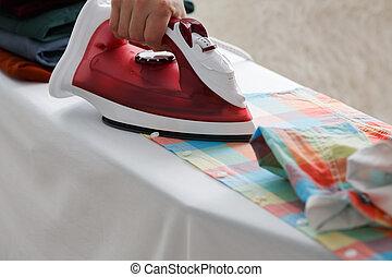 ironing, een, hemd