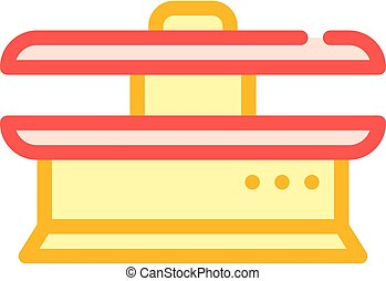 ironing equipment color icon vector isolated illustration