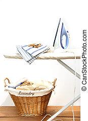 ironing, lavanderia, tábua