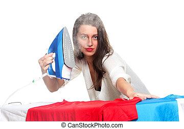 ironing, mulher