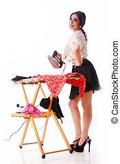 ironing, pinup