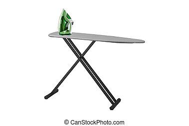 ironing, tools., isolado, ligado, um, fundo branco