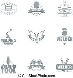 Ironsmith logo set, simple style - Ironsmith logo set....