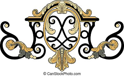 Ironwork detail - Vector illustration of a ironwork detail,...