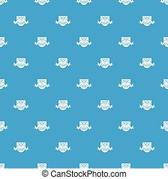 Ironwork pattern vector seamless blue repeat for any use