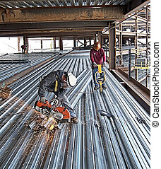 Ironworker Deck Workers - Picture taken with a 4mp camera...