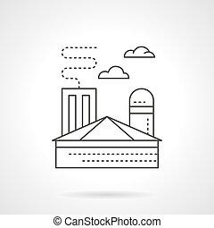 ironworks, planta, apartamento, vetorial, linha, ícone