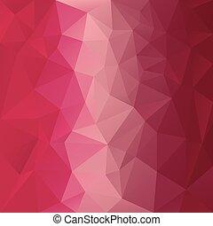 irrégulier, modèle, tessellations, magenta, fond, -, triangulaire, vecteur, rouges, conception, rose, couleurs, polygonal