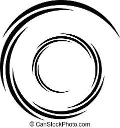 Irradiar, patrón, Extracto, líneas, forma, /, círculos,...