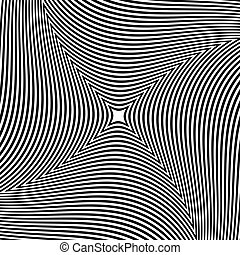 irradiar, resumen, líneas, forma., patrón, girar, fondo., radial, rotación, element., circular