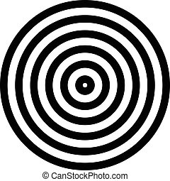 irradiar, simple, concéntrico, aislado, gráficos, círculo, blanco