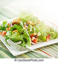 irradiare, insalata, luce sole