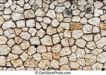 Irregular clear stone wall