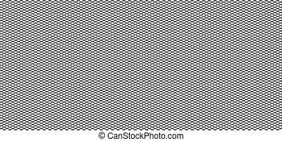Irregular grid, mesh pattern, abstract monochrome geometric...