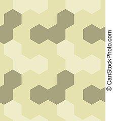 Irregular hexagon seamless pattern. For print, fashion...