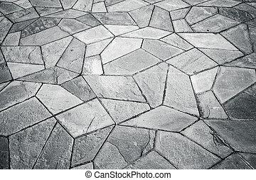Irregular pattern tiles