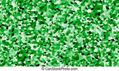 irregular shape pattern background green