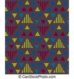 Irregular triangles seamless pattern. For print, fashion...
