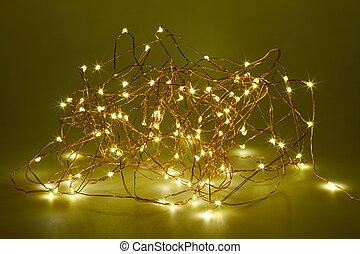light emitting diodes - Irregularly shaped heap of 100 light...