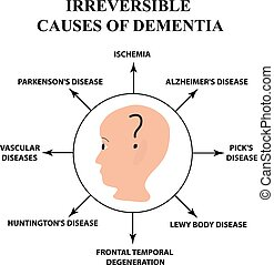 Irreversible causes of senile dementia. Alzheimer's disease....