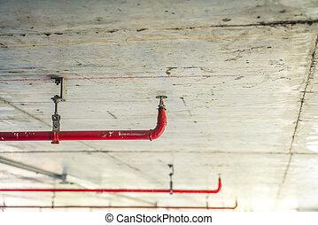 irrigador, effect., ), (, imagem, cano, fogo, processado, vindima, filtrado, vermelho