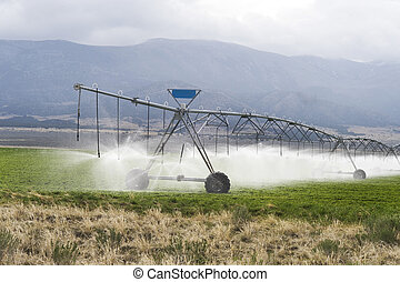 Irrigating Farmland.