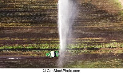 irrigation, agricole, land., système