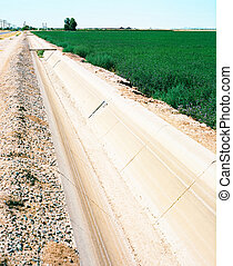 Irrigation Canal - Irrigation canal for Arizona desert...