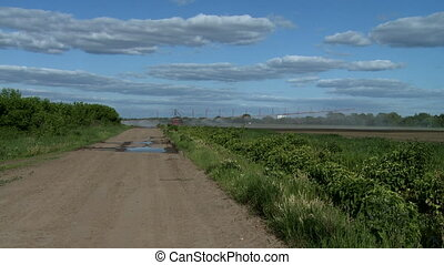 Irrigation on farm