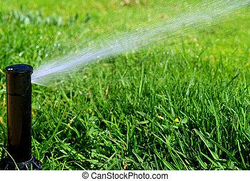 Irrigation system - Garden lawn automatic irrigation system