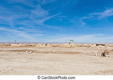 Irrigation system near Fezna, Morocco