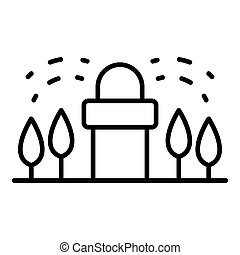 Irrigation tool icon, outline style