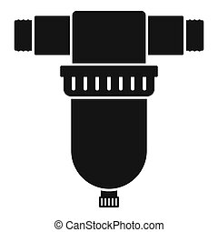 Irrigation tool icon, simple style
