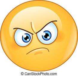 irritado, emoticon