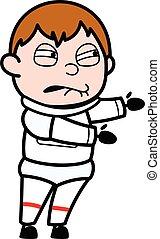 Irritated Astronaut cartoon illustration