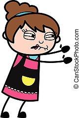Irritated Beautician cartoon illustration
