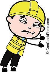 Irritated Engineer cartoon illustration