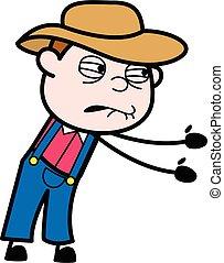 Irritated Farmer cartoon illustration