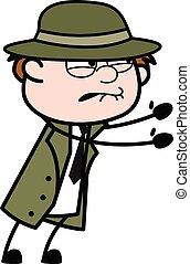 Irritated Spy cartoon illustration