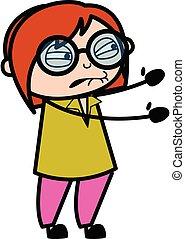 Irritated Teacher cartoon illustration