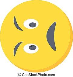 irritated vector flat colour icon