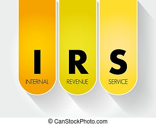 irs, -, 収入, サービス, 頭字語, 内部