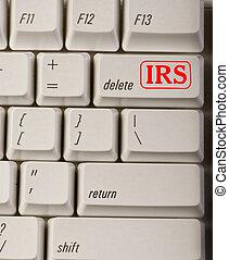 irs, 삭제하다, button.
