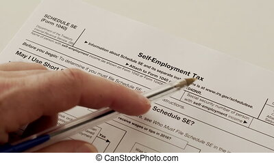 IRS Form 1040 Schedule SE Self Employment Tax - An anonymous...